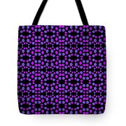 Purple Dots Pattern On Black Tote Bag