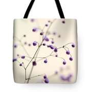 Purple Droplets Tote Bag
