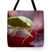 Purple Eyed Green Stink Bug Tote Bag