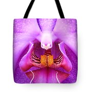 Purple Face In The Orchid. Tote Bag