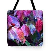 Purple Fall Leaves Tote Bag