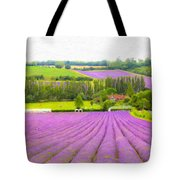 Purple Fields Of Love Tote Bag