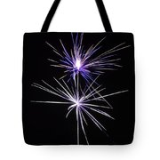 Purple Fireworks  Tote Bag