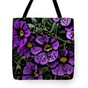 Purple Floral Fantasy Tote Bag