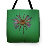 Purple Flower Green Background Tote Bag