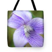 Purple Flower Macro Tote Bag