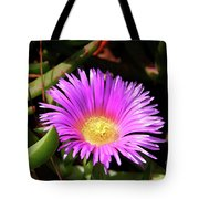 Purple Flower On California Coast Tote Bag