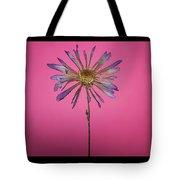 Purple Flower Pink Background Tote Bag