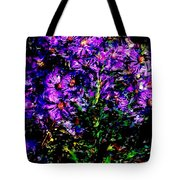 Purple Flower Still Life Tote Bag
