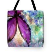 Purple Flower Watercolor Doodle Tote Bag