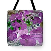 Purple Flower Wishes Tote Bag