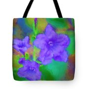 Purple Flowers 102310 Tote Bag
