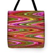Purple Flowers Abstract Tote Bag