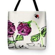 Purple  Flowers Grow Tote Bag
