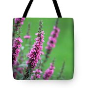 Purple Flowers In A Field Tote Bag
