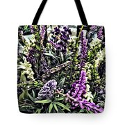 Purple Flowers In Bloom Tote Bag