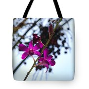 Purple Flowers In The Sky Tote Bag