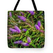 Purple Flowers Of Chiloe Tote Bag