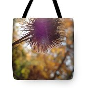 Purple Fuzzy Tote Bag