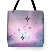 Purple Galaxy Tote Bag