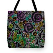 Purple Garden Tote Bag