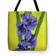 Purple Gladiolas Tote Bag