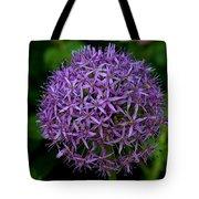 Purple Globe Thistle Tote Bag