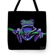 Purple Green Ghost Frog Tote Bag