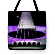 Purple Guitar 15 Tote Bag by Andee Design
