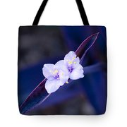 Purple Heart Flowers Tote Bag