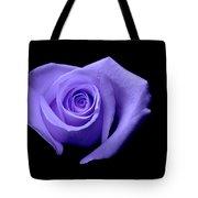 Purple Heart-shaped Rose Tote Bag