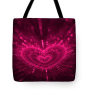 Purple Heart Valentine's Day Tote Bag
