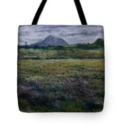 Purple Heather And Mount Errigal From Dore Co. Donegal Ireland   Tote Bag