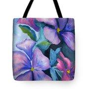 Purple Hibiscus Tote Bag