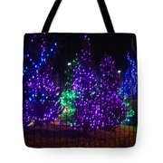 Purple Holiday Lights Tote Bag