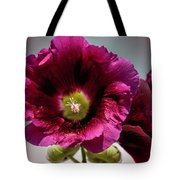 Purple Hollyhock Tote Bag