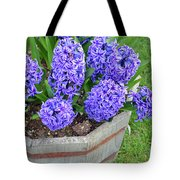 Purple Hyacinth Flowers Planter Tote Bag