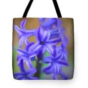 Purple Hyacinths Digital Art Tote Bag