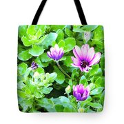 Purple In Greenery Tote Bag