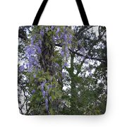 Purple In The Trees Tote Bag