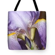 Purple Iris Beauty Tote Bag