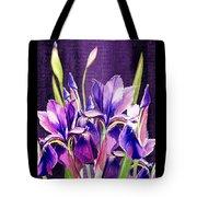 Purple Iris Dance  Tote Bag