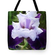 Purple Iris Flower Art Prints Garden Floral Baslee Troutman Tote Bag