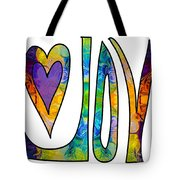 Purple Joy Abstract Inspirational Words Artwork By Omaste Witkow Tote Bag