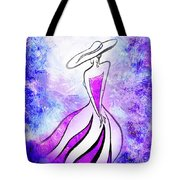 Purple Lady Charm Tote Bag