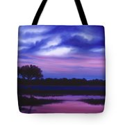 Purple Landscape Or Jean's Clearing Tote Bag