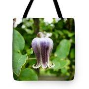 Purple Leather Flower Tote Bag