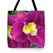 Purple Lilies Tote Bag