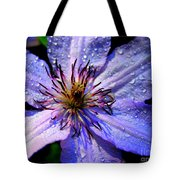 Purple Lilly Tote Bag