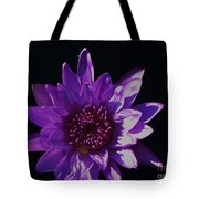 Purple Lily Monet Tote Bag